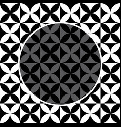 black and white flower pattern for background vector image vector image