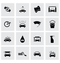 black car wash icon set vector image