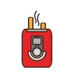 Cartoon toaster bread appliance vector