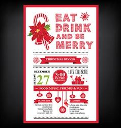 Christmas restaurant and party menu invitation vector