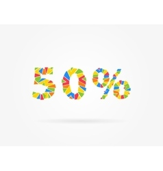Discount 50 percent colorful vector image