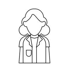 Doctor woman stethoscope medical professional vector