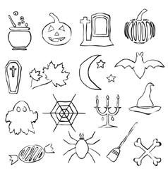doodle halloween images vector image vector image