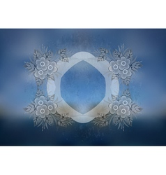 Floral frame with background vector image vector image