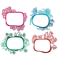 floral frames vector image vector image