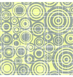 grunge circles background vector image vector image