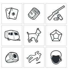 Gypsy camp icons vector