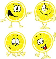 Lemon cartoon - funny isolated on white background vector