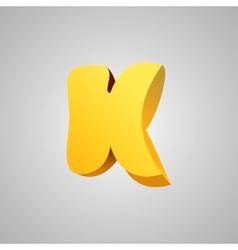 Letter k comic style font eps10 vector