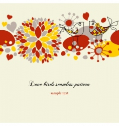 love birds pattern vector image vector image