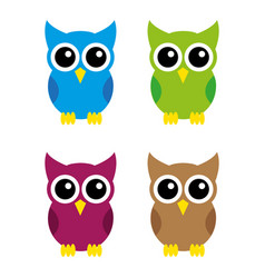 owls2 vector image vector image