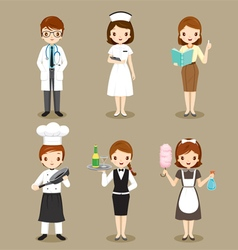 People With Different Occupations Set vector image vector image