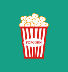 popcorn bag vector image