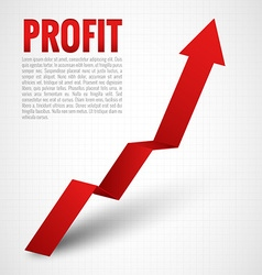 Profit Arrow vector image vector image