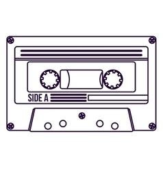 Retro cassette technology design vector