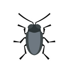 Small bug icon flat style vector