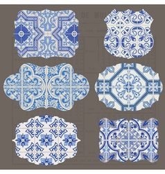 Vintage Tiles Design elements for scrapbook vector image vector image