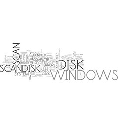What is scan disk text word cloud concept vector