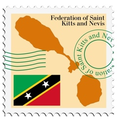 Mail to-from saint kitts and nevis vector