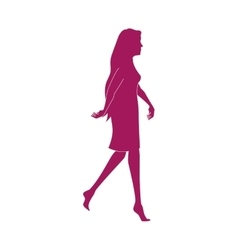 Girl walk lady female vector