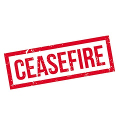 Ceasefire rubber stamp vector