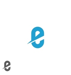 Letter e logo blue mockup direction web emblem vector