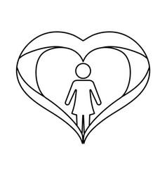 Female gender avatar vector