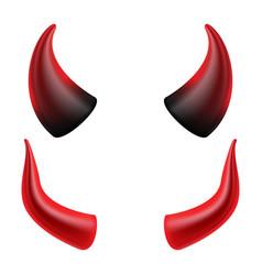 devil horns demon or satan horns symbol vector image