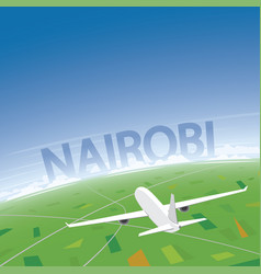 nairobi flight destination vector image