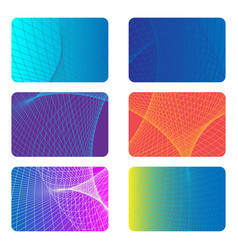 Covers design backgrounds for a credit card vector