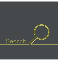 Search with a magnifying glass vector
