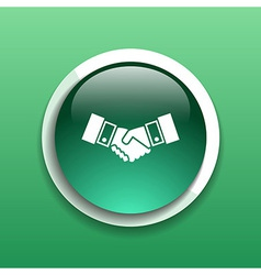 Handshake icon hake meeting business concept vector
