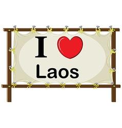 I love Laos vector image