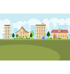 Buildings landscape background vector