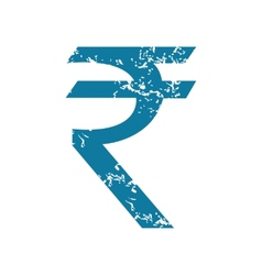 Indian rupee icon vector