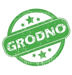 Grodno green stamp vector