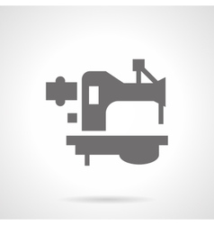 Foot sewing machine glyph style icon vector
