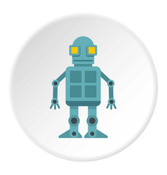 Android robot icon circle vector
