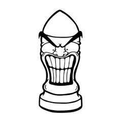 angry funny bullet vector image vector image