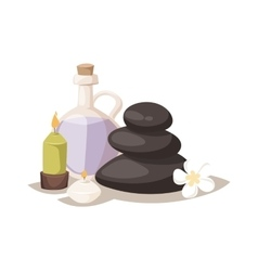 Aroma spa stones vector image