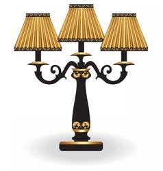Baroque elegant lamp with ornaments vector