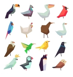 Birds in flat style collection vector