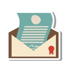 Certified mail envelope isolated icon vector