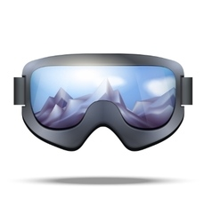 Classic vintage old school snowboarding goggles vector