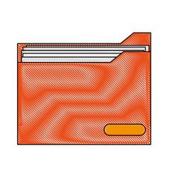 Color blurred stripe folder with documents inside vector