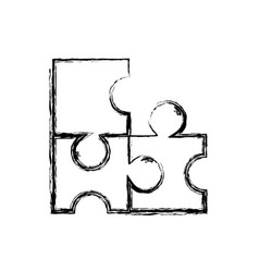 figure puzzles pieces game to idea solution vector image vector image
