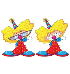 funny kids clowns vector image