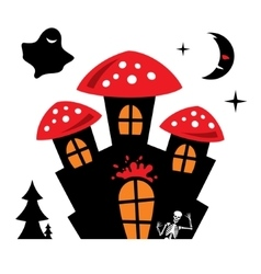 Halloween Castle Cartoon vector image vector image