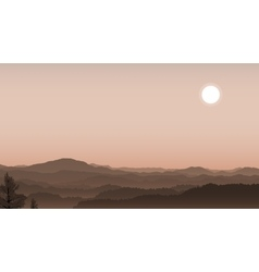 misty hills vector image vector image