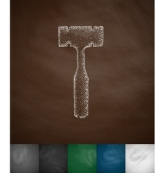 orthopedic hammer icon vector image vector image